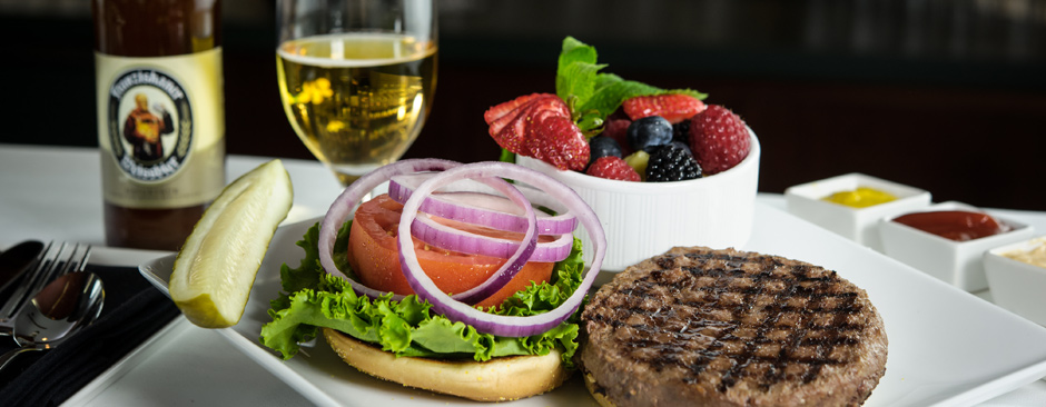 Come enjoy a Half-Pound Angus burger in style in our Member's Bar